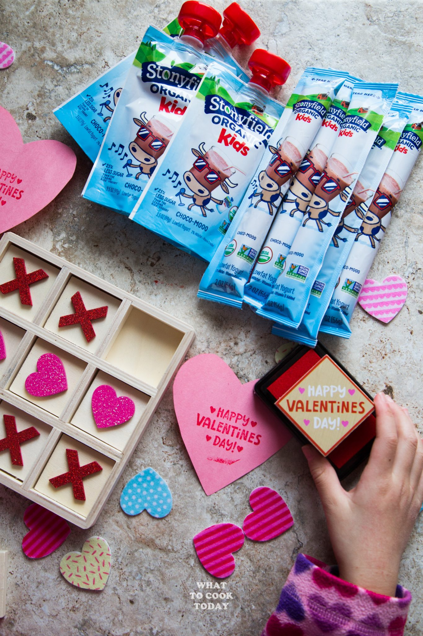 Less Sugar Valentine's Day Treat #ad #StonyfieldKids