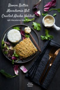 Brown Butter Macadamia Nut Crusted Alaska Halibut