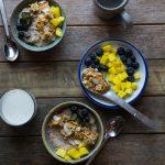 Quinoa Oats Porridge with Coconut Almond Crunch