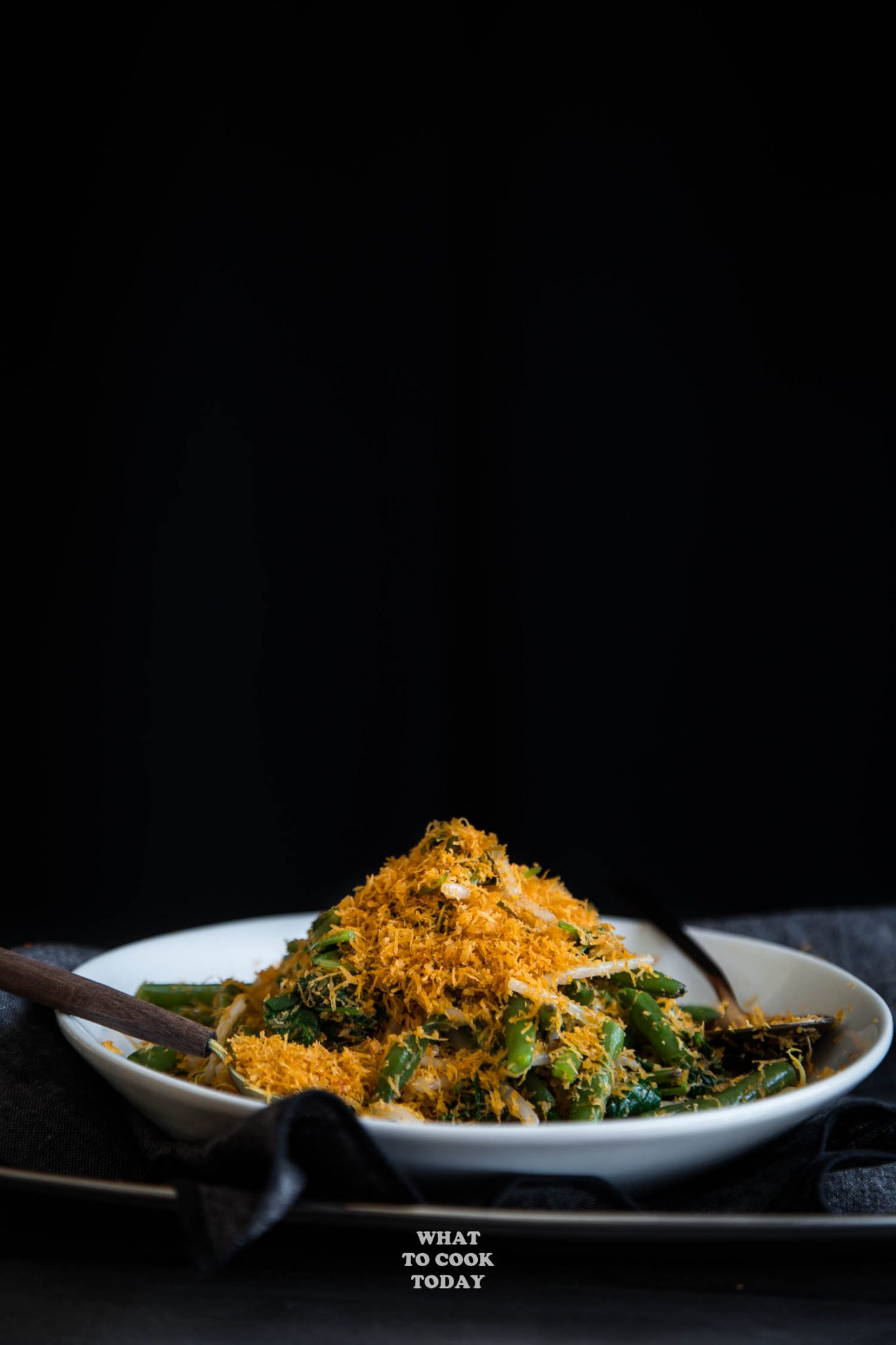 Urap Sayur (Salad with Spiced Grated Coconut Topping) #AsianSaladFeast #glutenfree #vegan