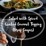 Urap Sayur (Salad with Spiced Grated Coconut Topping)