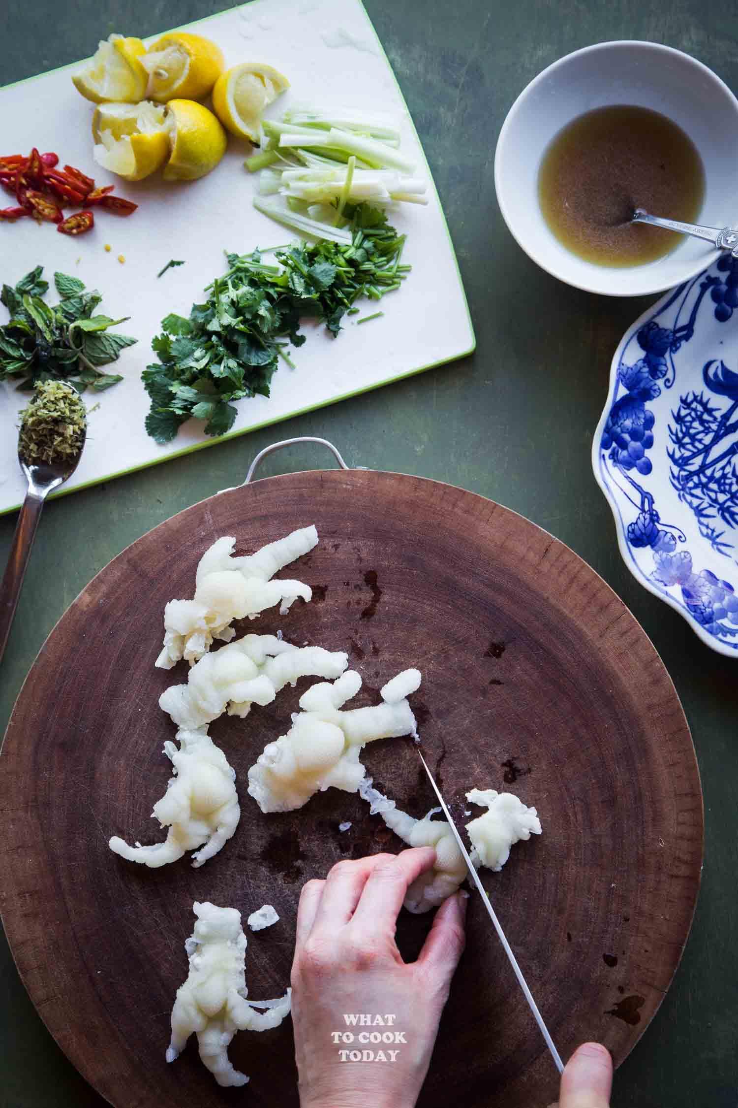 Lao Boneless Chicken Feet Salad (Yum Tien Gai)