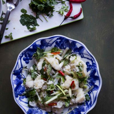 Lao Boneless Chicken Feet Salad (Yum Tien Gai)
