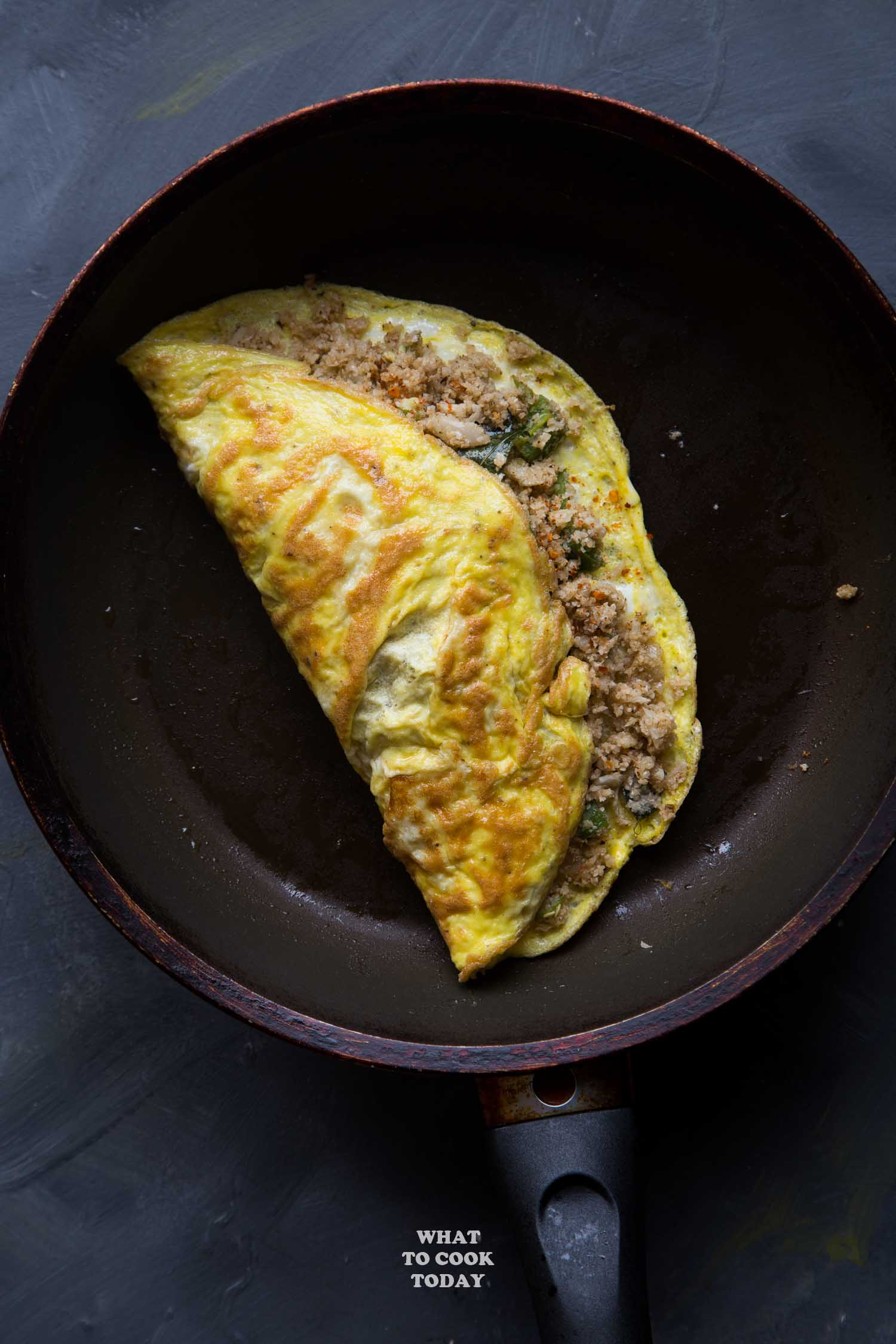 Gobi Ka Omlate (Indian Spicy Cauliflower Omelets)