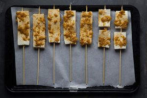 Tofu Satay with Almond Butter Sauce