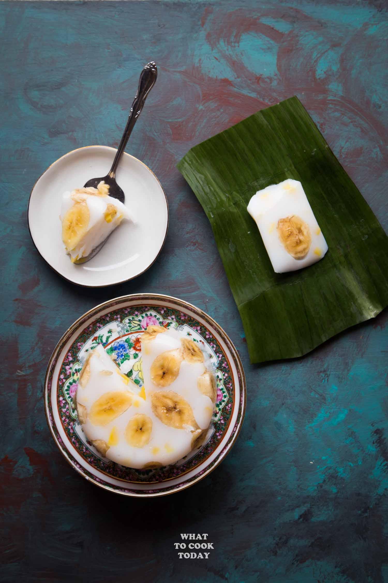 Hunkwe Pisang Nangka (Mung Bean Flour Banana Jackfruit Cake)