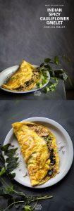Gobi Ka Omlate (Indian Spicy Cauliflower Omelets)