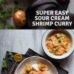 Super Easy Sour Cream Shrimp Curry
