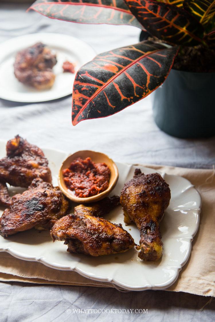 Ayam Panggang Bumbu Kecap (Indonesian Kecap Manis Broiled Chicken)