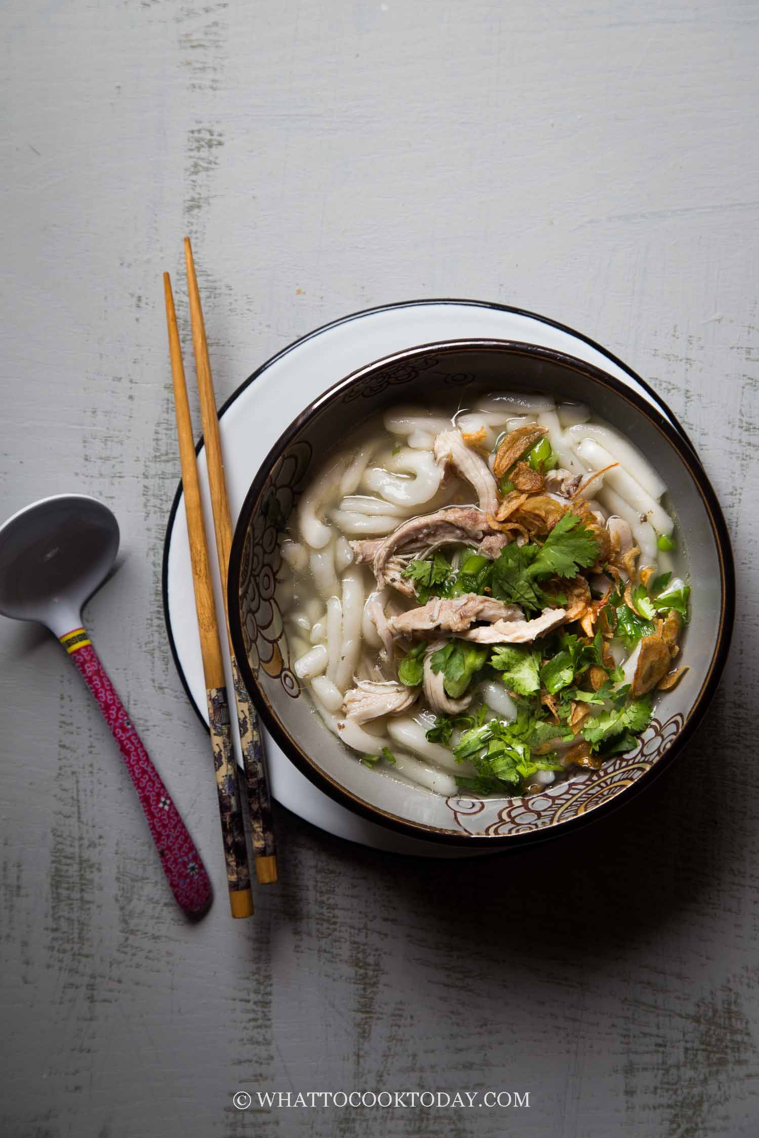 Khao Piak Sen (Lao Tapioca Noodle Chicken Soup)