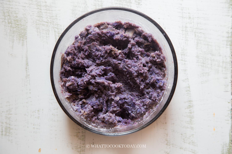 Mashed Okinawan purple sweet potato