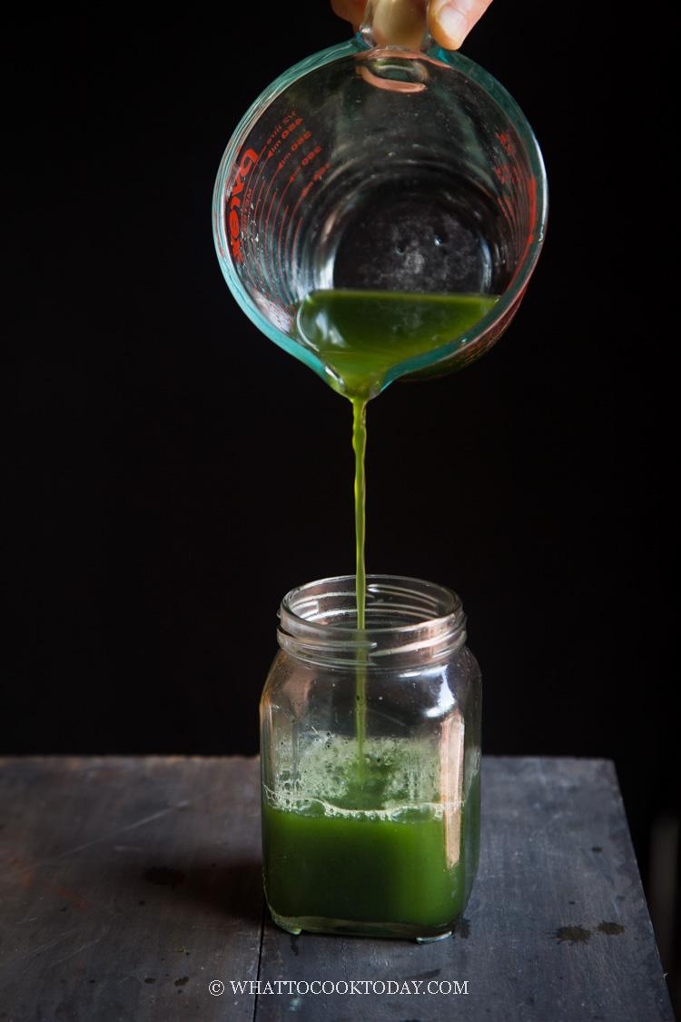 How To Make Pandan Juice and Pandan Extract