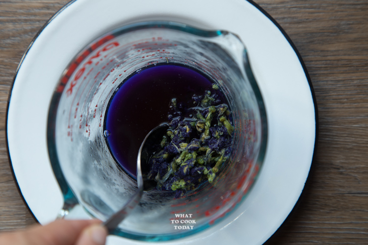 blue pea flower juice