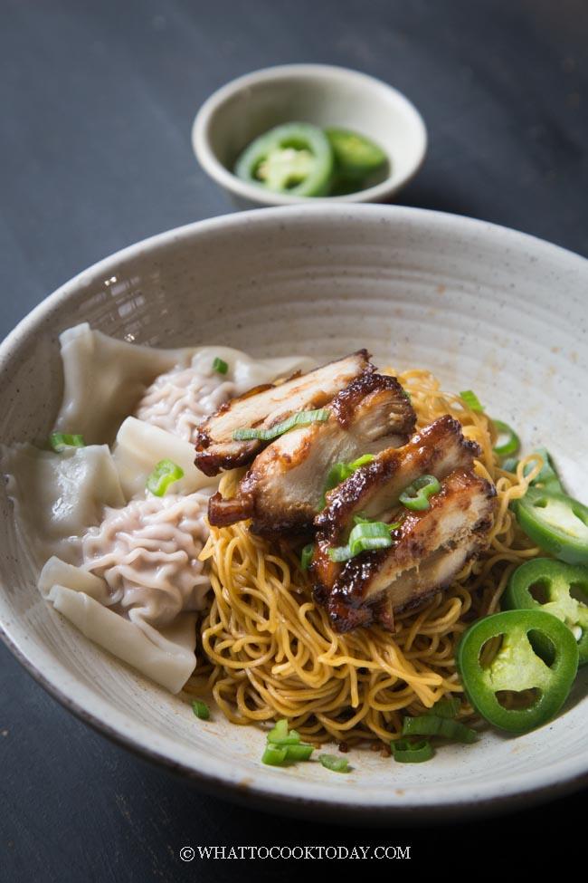 Dry Wonton Noodles (Kon Lo Wantan Mee)