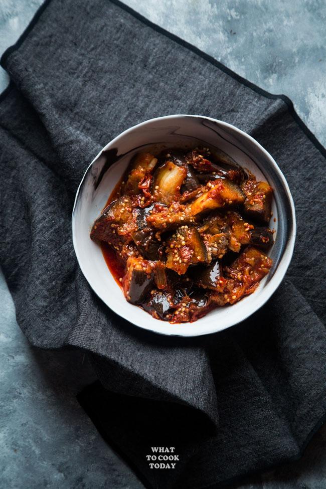 Pressure Cooker Sambal Terong Balado (Eggplants with Sambal)