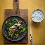 Stir-fried Gai Lan with Pork (Chinese Broccoli)