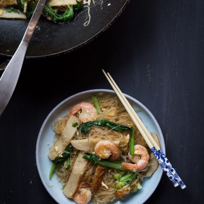 Soun Goreng (Fried Tang Hoon/Bean Thread Noodles Stir-fry)