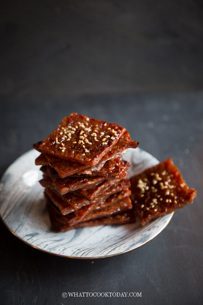 Easy Homemade Bak Kwa (In the Oven) #bakkwa #bakkwasingapore #chineseporkjerky #chinesenewyearfood