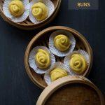 Pumpkin Flower Steamed Buns