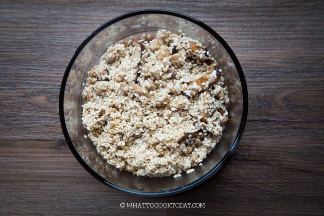 Thanksgiving Instant Pot Asian Sticky Rice Stuffing