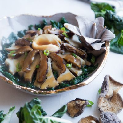 Braised Abalone with Bok Choy (with Pressure Cooker)