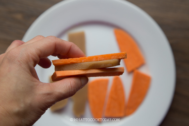 Fried Nian Gao Sweet Potato Sandwich