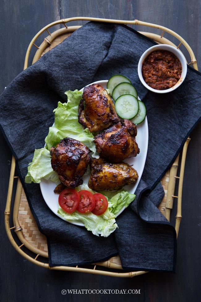 Lalapan Ayam Bakar (Sundanese Salad with Grilled Chicken)