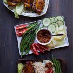 Lalapan Ayam Bakar (Sundanese Salad with Grilled Chicken)