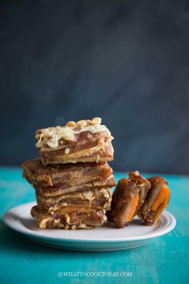 Fried Nian Gao Sweet Potato Sandwich