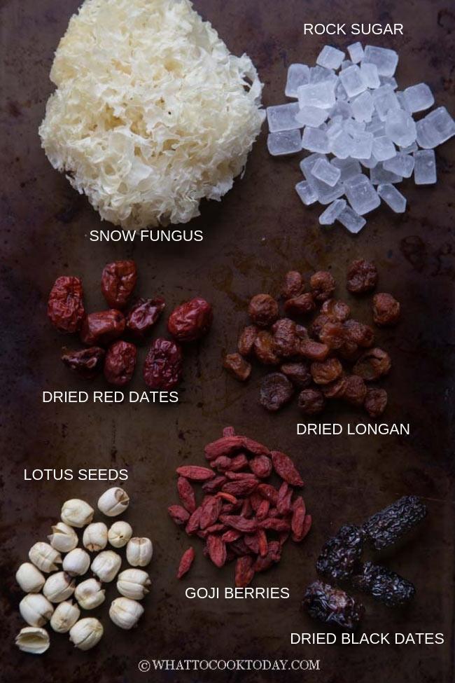 Snow Fungus Dessert Soup (Tong Sui)