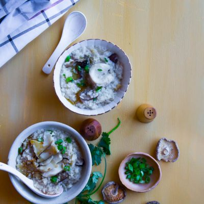 Dried Scallop Abalone Congee (Porridge)