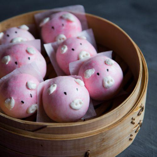 Easy Sweet Piggy Steamed Buns