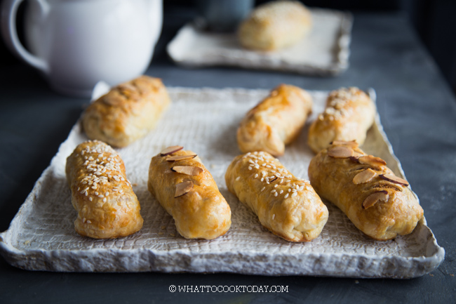 Super Easy Baked Nian Gao Puff Pastry (3 filling combo)