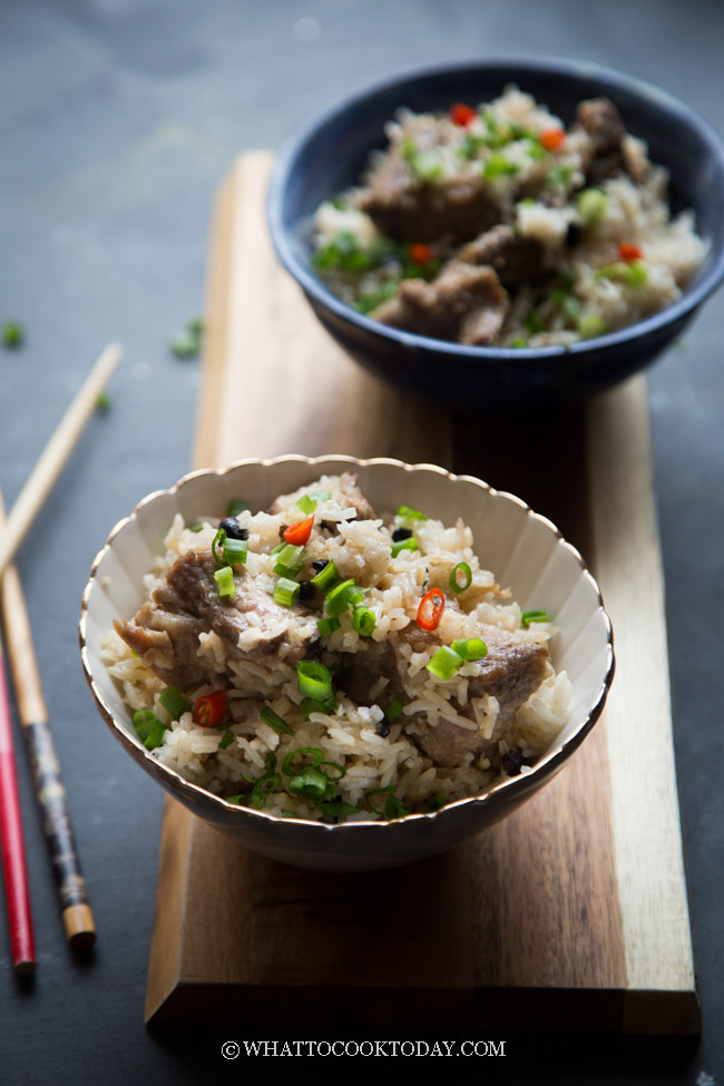 Black Bean Spare Ribs Rice (Pressure Cooker or Rice Cooker)