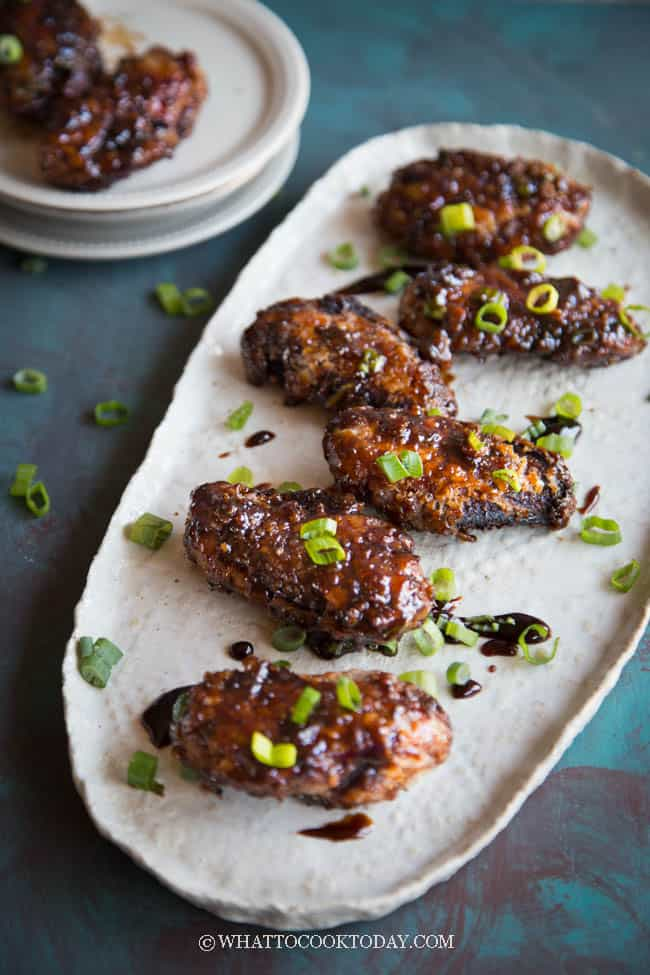 Twice-Fried Crispy Peking Chicken Wings with Jing Du Sauce
