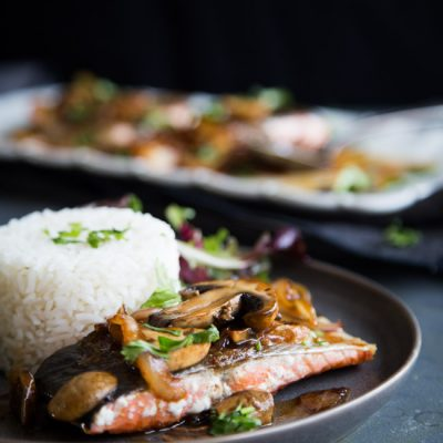 Super Easy Kecap Manis Glazed Pan-Seared Salmon