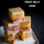 Coconut Agar Agar Fruit Jelly Cake (Puding Lapis Buah)