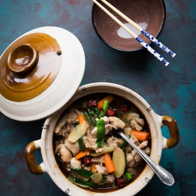 Easy Clay Pot Shaoxing Drunken Chicken