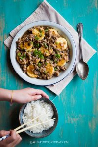 One-Pan Egg Tofu with Minced Pork and Black Beans