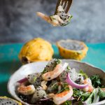 Shrimp Dragon Fruit Salad with Sesame Plum Dressing