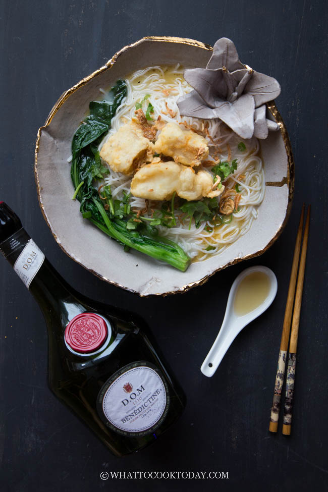Fish Bee Hoon Soup made with DOM Benedictine