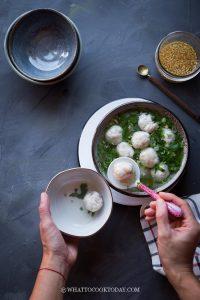 Bakso Ayam Kenyal (Indonesian Chicken Meatballs)