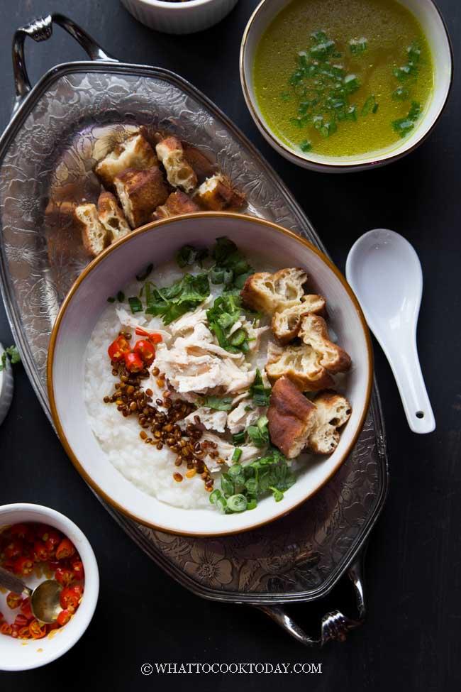 Bubur Ayam Betawi Kuah Kuning (Jakarta Chicken Rice Porridge)