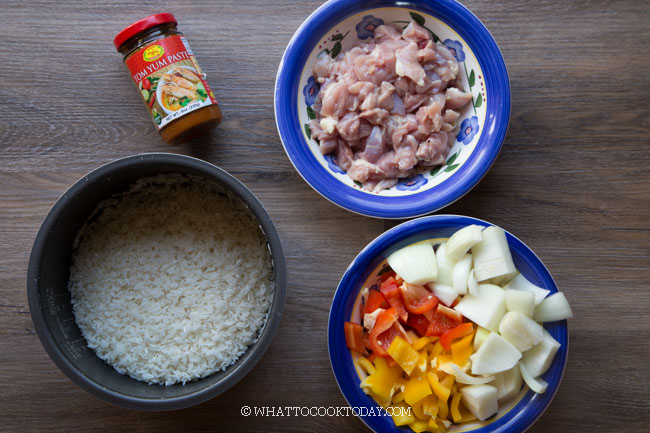 Easy Tom Yum Chicken Rice (Instant Pot or Rice Cooker)