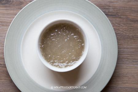 Sago crystal dumplings steamed in a ramekin