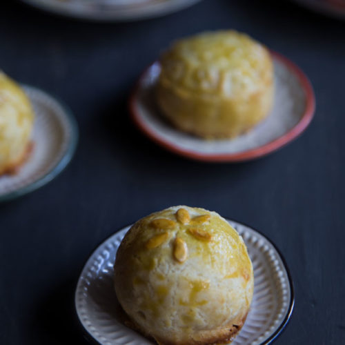 Shanghai Mooncake (with Red Bean Paste)