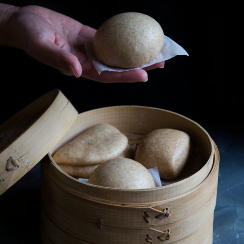 Soft Fluffy Chinese Whole Wheat Steamed Buns