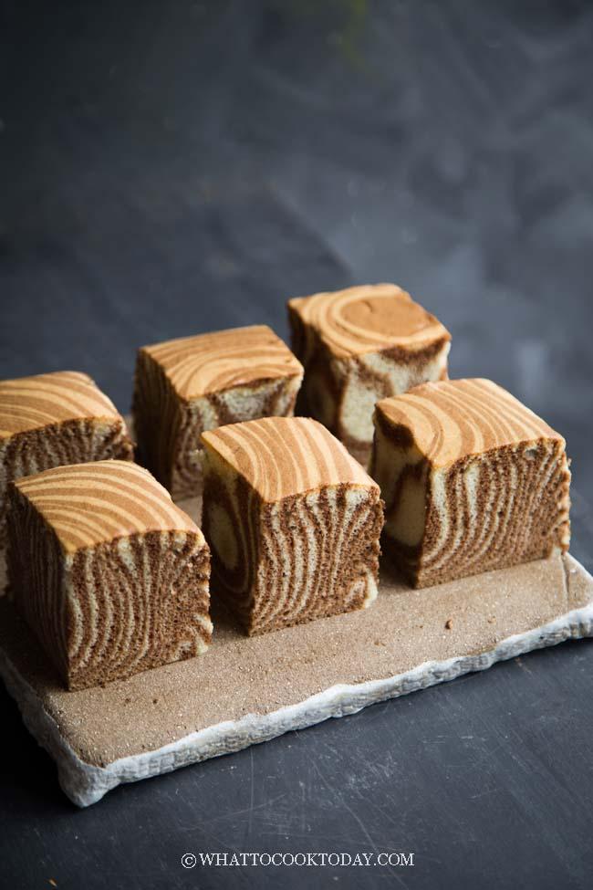 The Softest Zebra Ogura Cake Ever ! (Mocha Flavor)