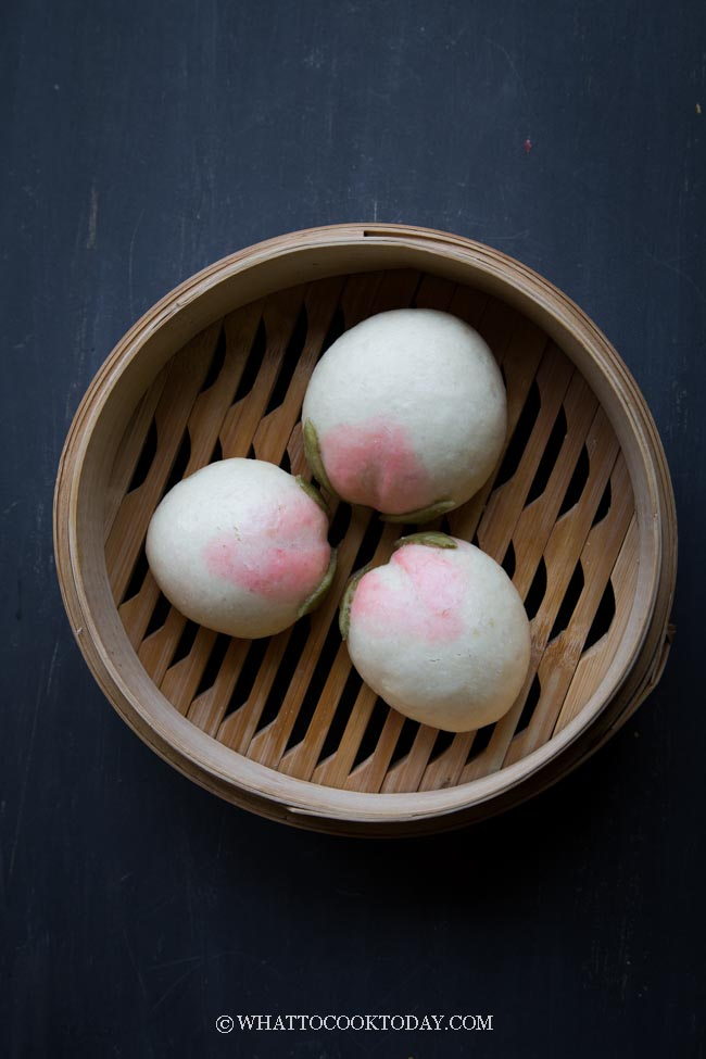 Longevity Peach Steamed Buns (Shou Tao Bao)