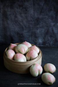 Longevity Peach Steamed Buns (Shou Tao Bao)